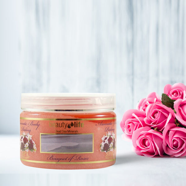 Aromatic Body Peeling Roses 450 gr - Aroma Dead Sea
