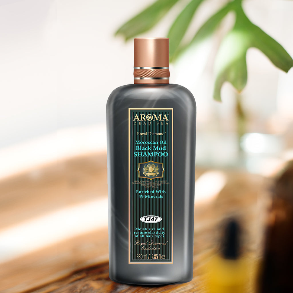 TJ -47 Argan Oil Black Mud Shampoo 380 ml - Aroma Dead Sea
