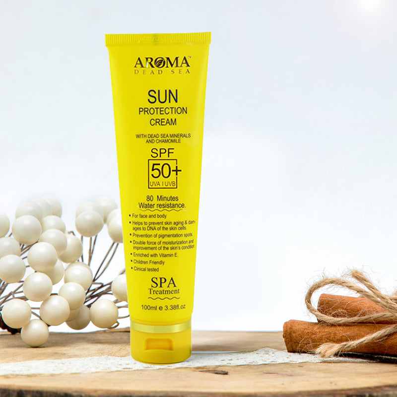 Sun Protection Cream SPF-50+ - Aroma Dead Sea