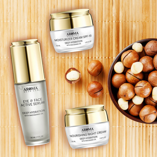 Deep Hydration Beauty kit Dead Sea Minerals and Macadamia Oil - Aroma Dead Sea
