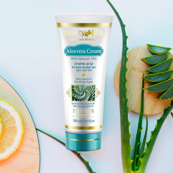 Aloevera Cream With natural Oils And Vitamin E - Aroma Dead Sea