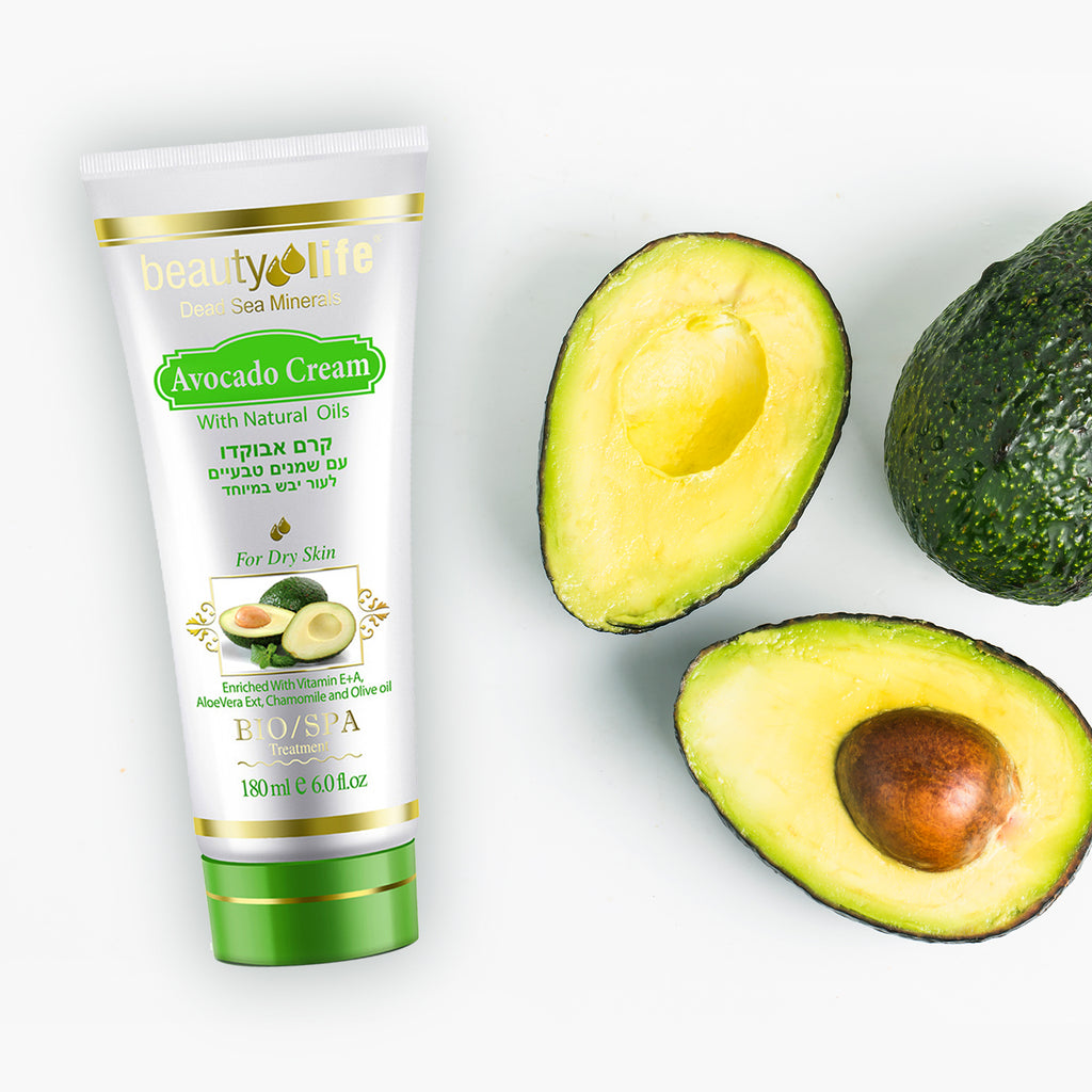 Avocado Cream With natural Oils And Vitamin E - Aroma Dead Sea
