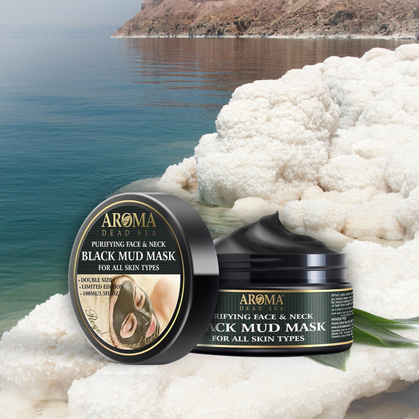 Purifying Face & Neck Black Mud Mask - Aroma Dead Sea