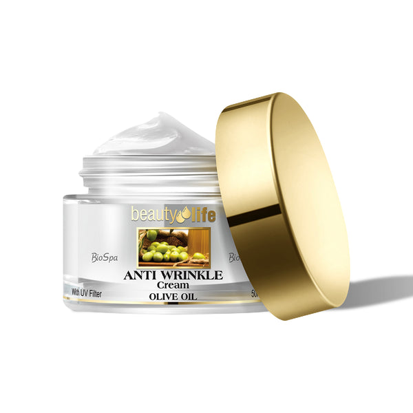 Anti Wrinkle Cream with Olive Oil for all skin types - Aroma Dead Sea