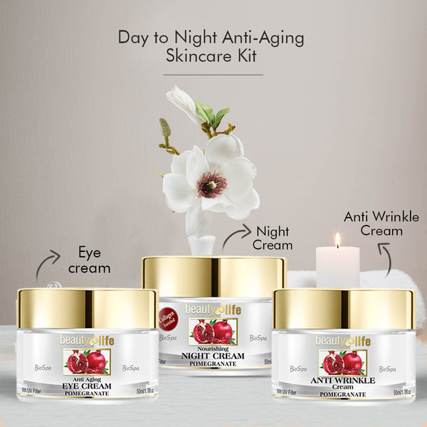 Day to night ant-aging skincare kit