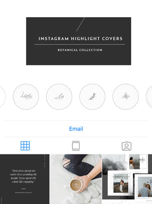 Instagram Highlight Covers - BOTANICAL
