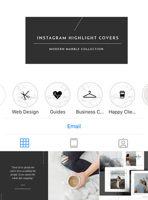 Instagram Highlight Covers - MARBLE