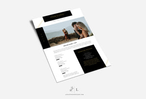 Photoshop Pricing Guide Template -Single Sheet - GIANA