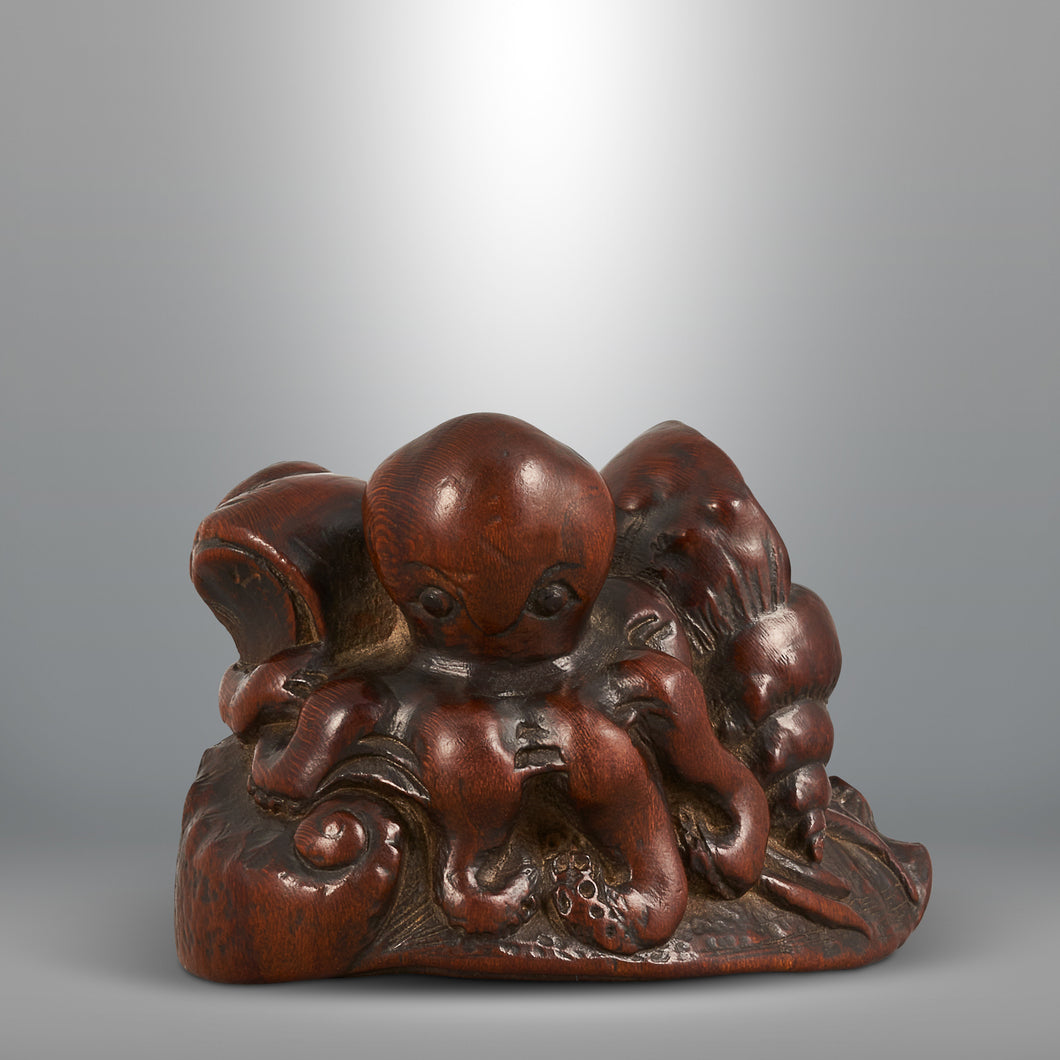 Netsuke - Awabi and Octopus