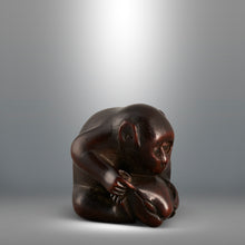 Load image into Gallery viewer, Netsuke - Monkey and Clam