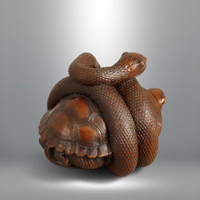 Load image into Gallery viewer, Netsuke - Snake and Tortoise