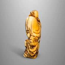 Load image into Gallery viewer, Netsuke - Jurojin Holding the Scroll of Life