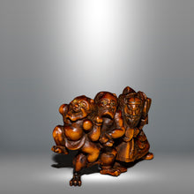 Load image into Gallery viewer, Netsuke – Shoki and Two Oni