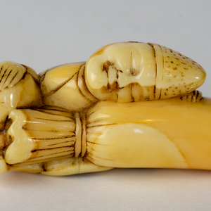 Netsuke - Sleeping Temple Servant (Eri)