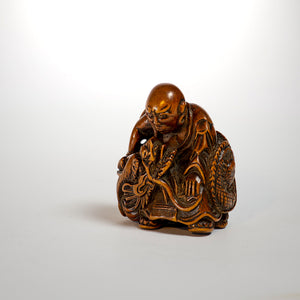 Netsuke - Rashinjin and Dragon