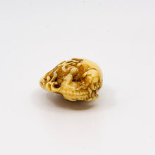 Load image into Gallery viewer, Netsuke – Shishi upon a mokugyo