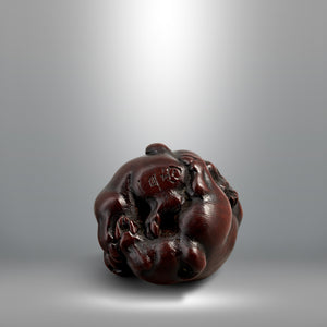 Netsuke - Playing Pups