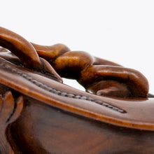 Load image into Gallery viewer, Netsuke – Pup resting on a jingasa