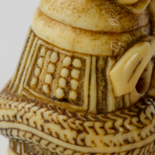 Load image into Gallery viewer, Netsuke - Kiyohime wrapped around the bell of Dojo-ji