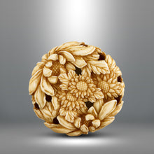 Load image into Gallery viewer, Netsuke - Chrysanthemums