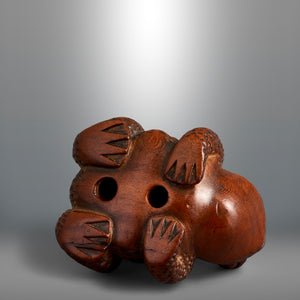 Netsuke - Toad and Young