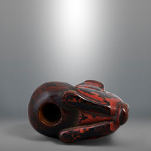 Load image into Gallery viewer, Netsuke – Lacquered Dog Resting on a Ball
