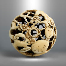 Load image into Gallery viewer, Netsuke - Cherry Blossom Viewing