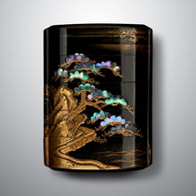 Load image into Gallery viewer, Inrō - Pine Tree by a Lake
