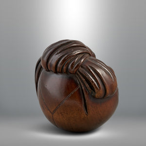Netsuke - Hotei in His Sack