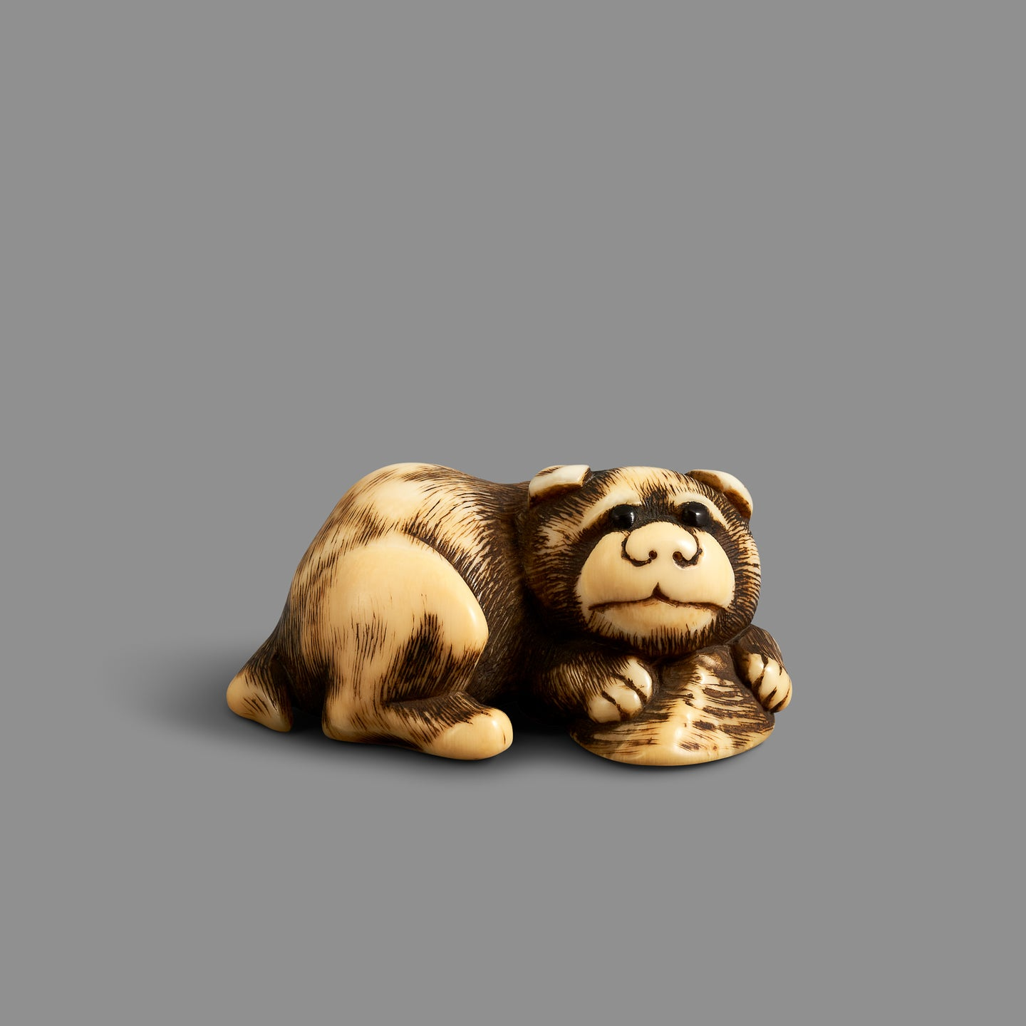 Netsuke – Puppy with Shell
