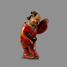 Load image into Gallery viewer, Netsuke - Okame Dancing