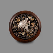 Load image into Gallery viewer, Netsuke – Crane and Blossoms