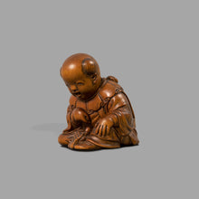 Load image into Gallery viewer, Netsuke – Boy with minogame