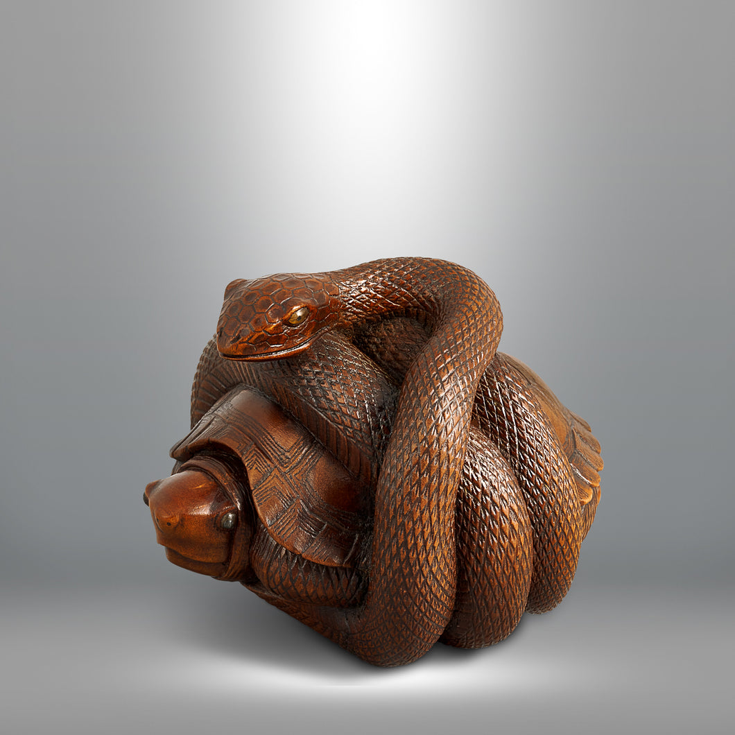 Netsuke - Snake and Tortoise