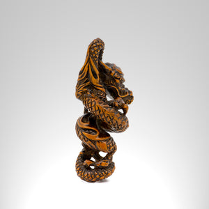 Netsuke - Coiled Dragon