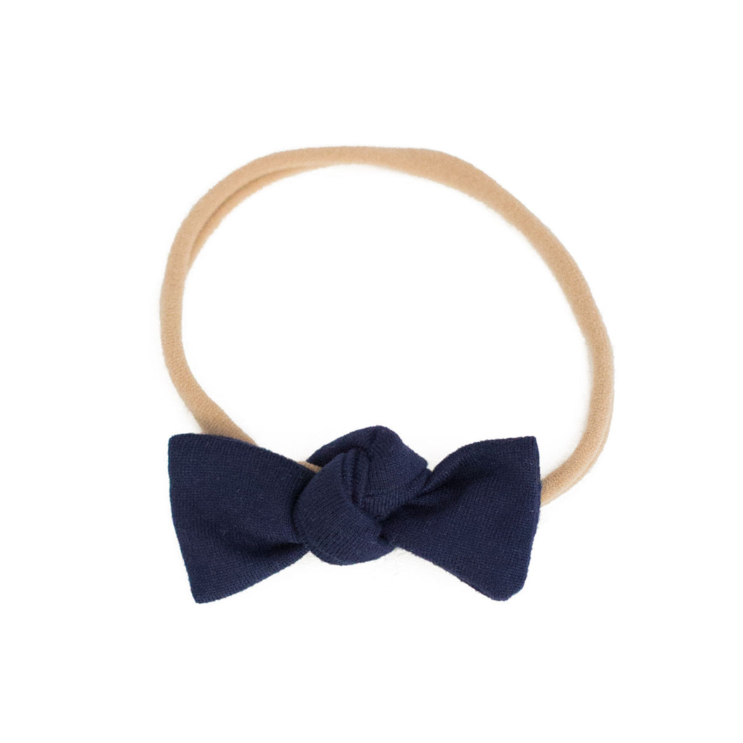 Navy Knotted Bow