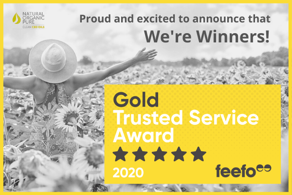 Feefo Gold Trusted Service Award 2020 Winner! - Natural Organic Pure Clean CBD Oils | NOPC OIls-www.nopcoils.com