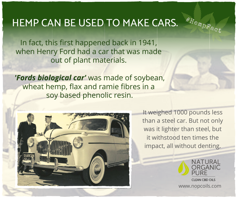ford car made from hemp-engine ran on hemp fuel-nopcoils blog