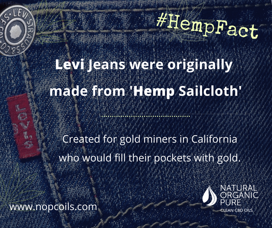 levis jeans were once made from hemp-nopc oils hemp facts log
