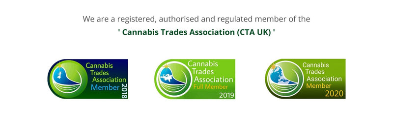 we are an accredited member of the cannabis trades association-nopc oils cta uk-member badges