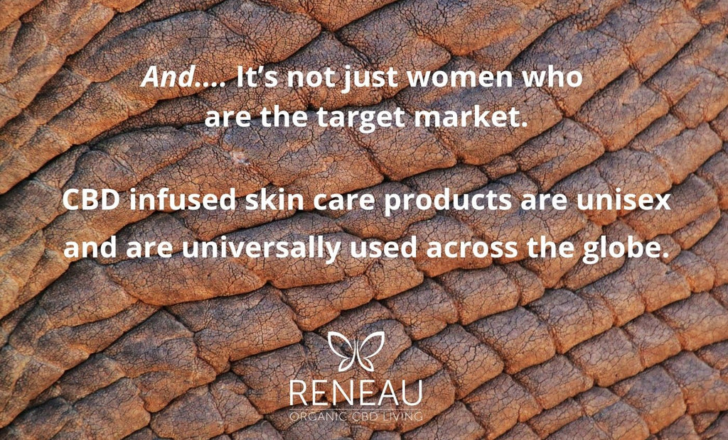 CBD infused skin care products are unisex and are universally used across the globe-nopc oils blog-reneau organic cbd