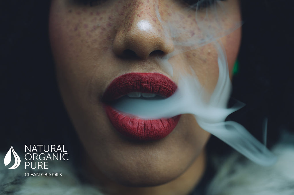 woman red lips vaping cbd | cbd vape liquid |-cbd vape-natural organic pure clean cbd oils