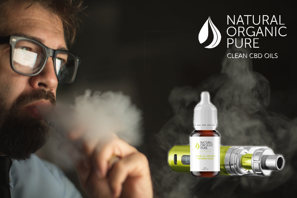 cbd vape oil product | cbd vape liquid | man with glasses vape cloud | vaping cbd oil |cbd oil e-liquid by | natural organic pure clean cbd oils