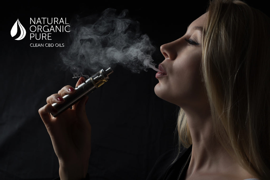 cbd vape liquid | cbd vape | woman side profile | vaping cbd oil | natural organic pure clean cbd oils