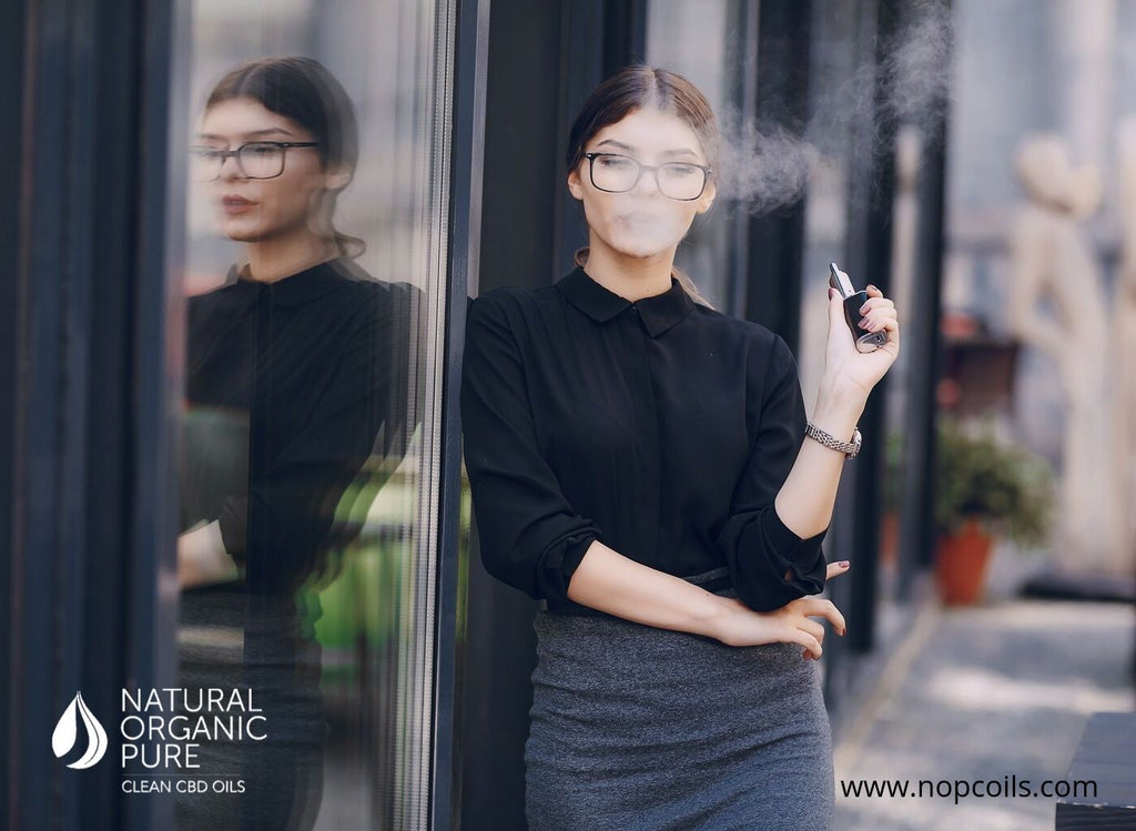 worker vaping cbd for stress-nopc oils blog