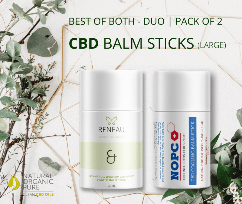 CBD Skincare CBD Heated and Cooling Balm Set | 2 x CBD Balm Stick Bundle