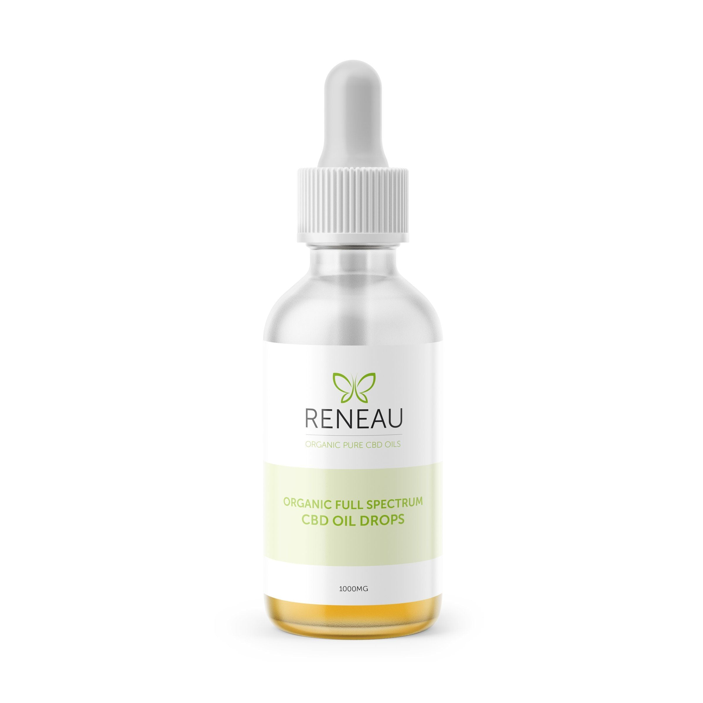 tincture bottle of organic full spectrum cbd oil by reneau_organic cbd well-being