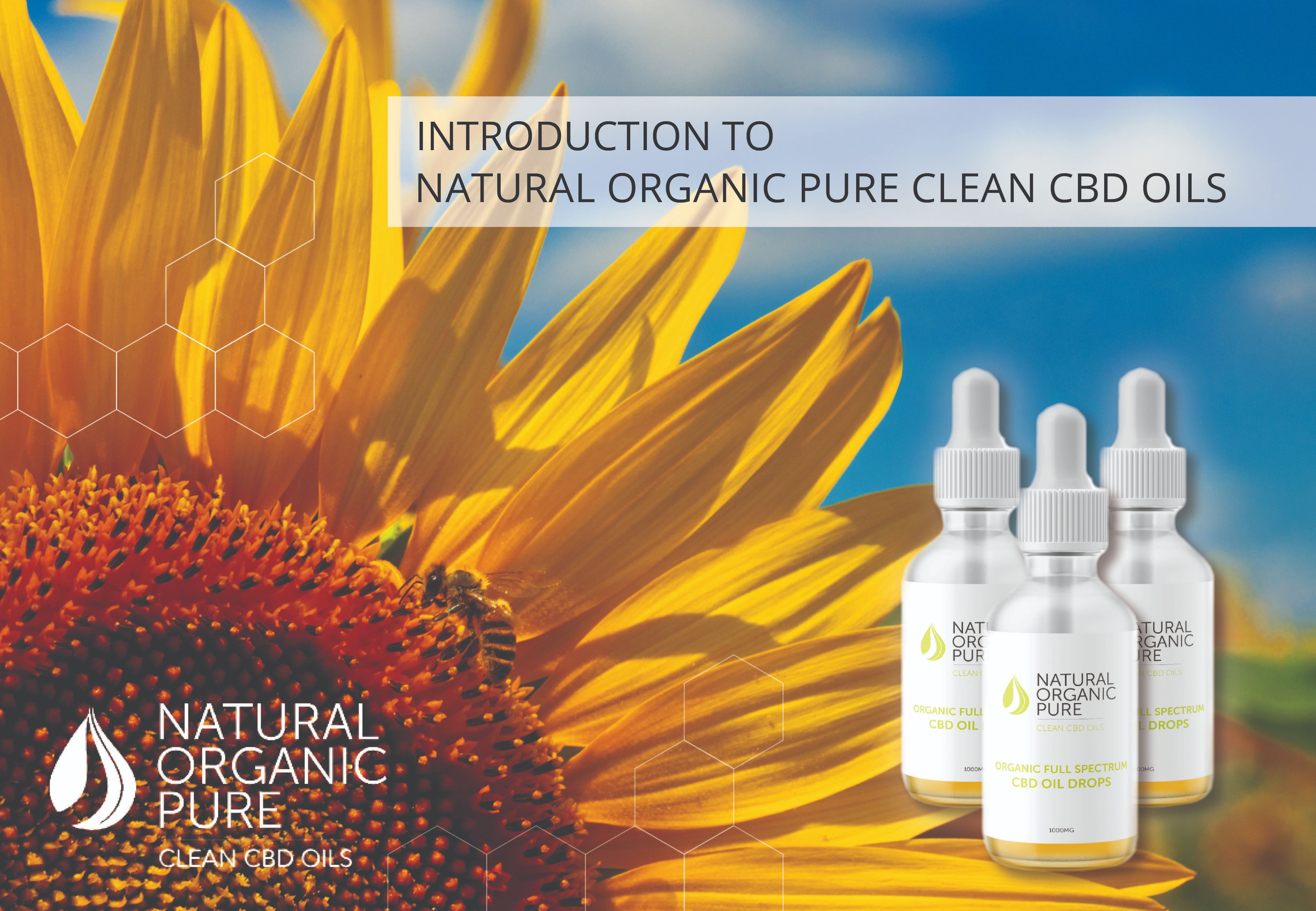 Introducing Natural Organic Pure Clean CBD Oils | Cannabidiol products | CBD Oil tinctures
