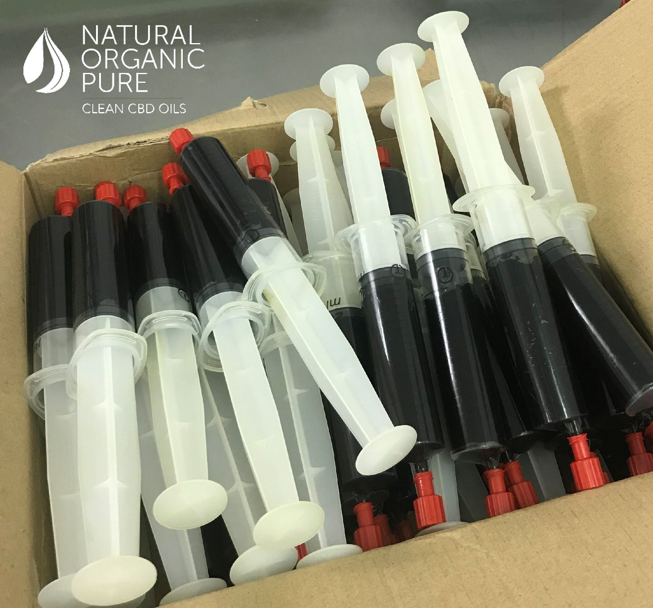 box full of full spectrum organic cbd concentrate paste syringe_cbd paste syringe by natural organic pure clean cbd oils
