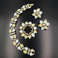 1968 Vintage Sarah Coventry Garland Jewelry Set at bitchinretro.com